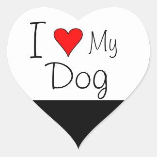 I heart my dog heart sticker