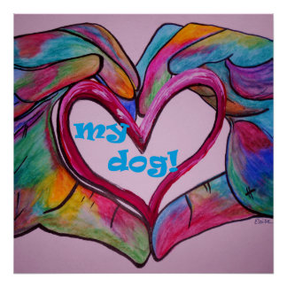 I Heart my Dog Poster