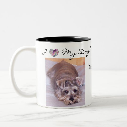 I Heart My Dog! Two-Tone Coffee Mug
