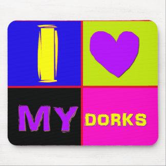 I Heart My Dorks long Mouse Pad