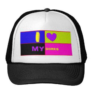 I Heart My Dorks long Trucker Hat