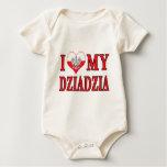 I Heart My Dziadzia Baby Bodysuit