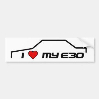 I heart my e30 car bumper sticker