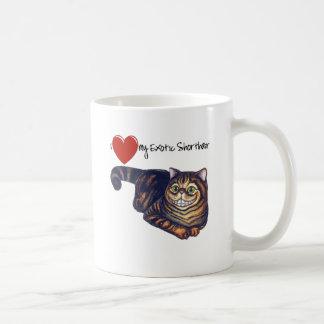 I Heart My Exotic Shorthair Classic White Coffee Mug