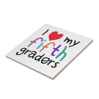 I Heart My Fifth Graders Teacher Love Ceramic Tile