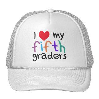 I Heart My Fifth Graders Teacher Love Trucker Hat
