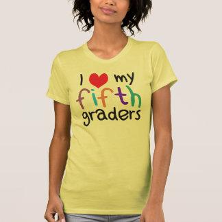 I Heart My Fifth Graders Teacher Love Tshirt