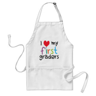 I Heart My First Graders Teacher Love Apron