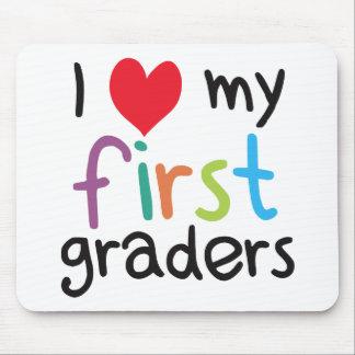 I Heart My First Graders Teacher Love Mousepads