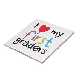 I Heart My First Graders Teacher Love Ceramic Tile