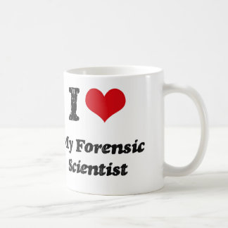 I heart My Forensic Scientist Classic White Coffee Mug