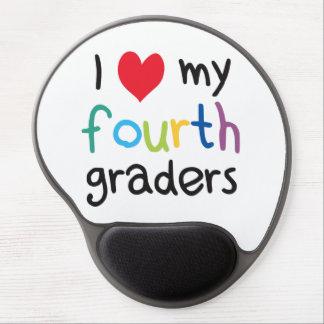 I Heart My Fourth Graders Teacher Love Gel Mouse Mat