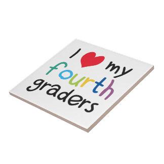 I Heart My Fourth Graders Teacher Love Tile