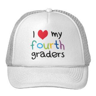 I Heart My Fourth Graders Teacher Love Trucker Hat