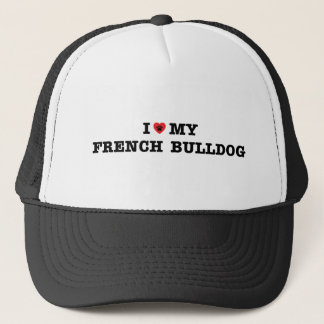I Heart My French Bulldog Trucker Hat