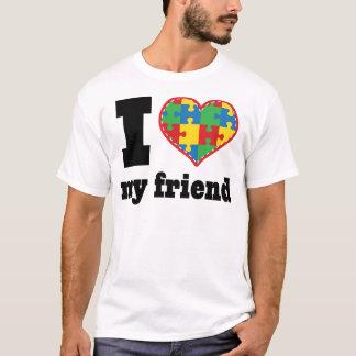 I Heart My Friend Autism Awareness T-Shirt