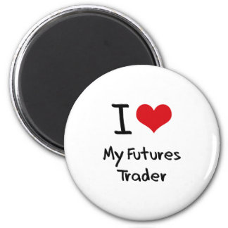 I heart My Futures Trader Fridge Magnets