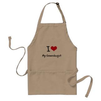 I heart My Genealogist Adult Apron