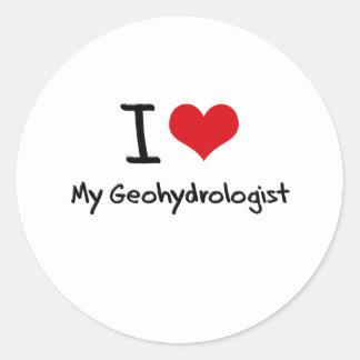 I heart My Geohydrologist Round Sticker
