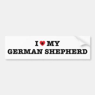 I Heart My German Shepherd Bumper Sticker