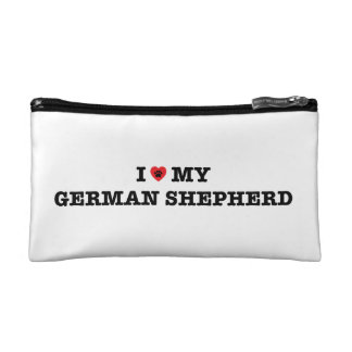 I Heart My German Shepherd Cosmetic Bag