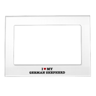 I Heart My German Shepherd Magnetic Photo Frame
