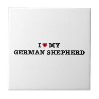 I Heart My German Shepherd Tile