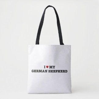 I Heart My German Shepherd Tote Bag