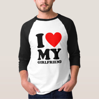 I Heart My Girlfriend (Black Text) T-Shirt