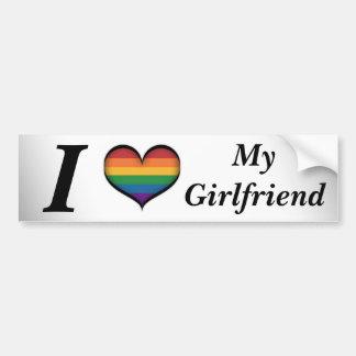 I Heart My Girlfriend Bumper Sticker