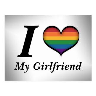 I Heart My Girlfriend Postcard