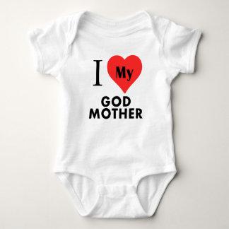 I Heart My God Mother Baby Bodysuit