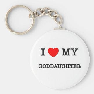 I Heart My GODDAUGHTER Keychain