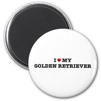I Heart My Golden Retriever Magnet