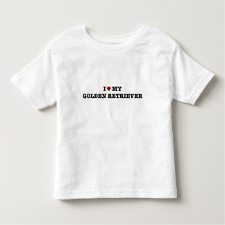 I Heart My Golden Retriever Toddler T-Shirt