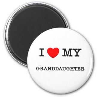 I Heart My GRANDDAUGHTER 2 Inch Round Magnet