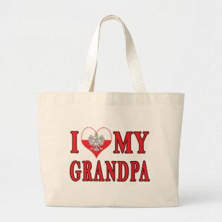 I Heart My Grandpa Large Tote Bag
