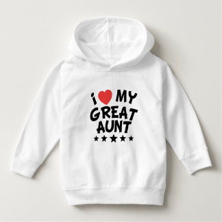 I Heart My Great Aunt Hoodie