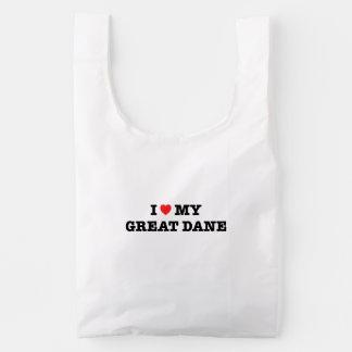 I Heart My Great Dane Baggu Reusable Bag