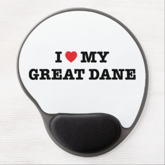 I Heart My Great Dane Gel Mousepad