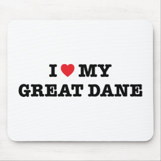 I Heart My Great Dane Mousepad