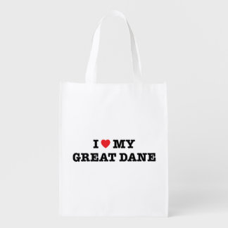 I Heart My Great Dane Reusable Bag Reusable Grocery Bag