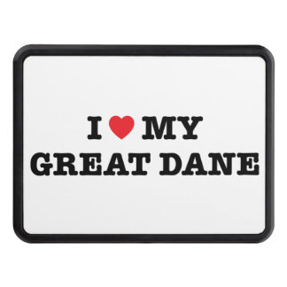 I Heart My Great Dane Trailer Hitch Cover