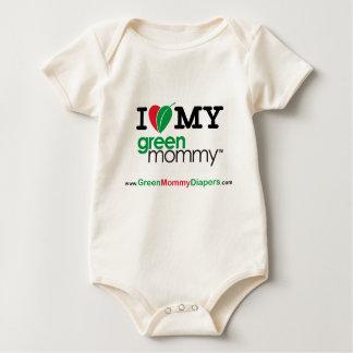 I Heart My Green Mommy Baby Bodysuit