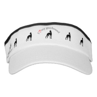 I heart my greyhound silhouettes visor
