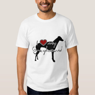 """I """"heart"""" my Greyhound"""" words with graphi Tee Shirt"""