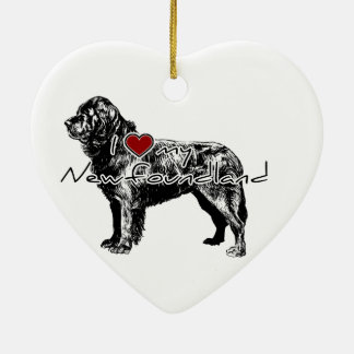 "I ""heart"" my Greyhound"" words with graphic Ceramic Ornament"
