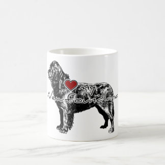 "I ""heart"" my Greyhound"" words with graphic Coffee Mug"