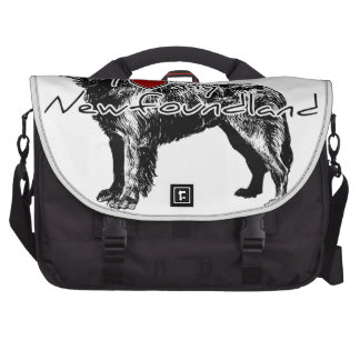 I heart my Greyhound words with graphic Laptop Commuter Bag