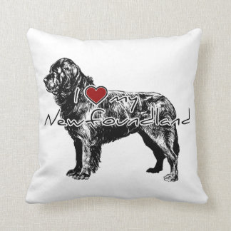 "I ""heart"" my Greyhound"" words with graphic Throw Pillow"